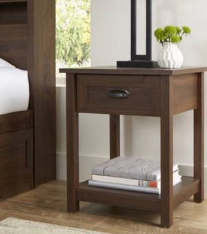 New!! Night stand, nightstand, side table, end talbe, living room furniture, 1 drawer 1 open shelf night stand set of 2, organizer, storage unit, en for Sale in Phoenix, AZ