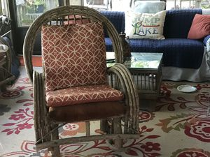 Willow Rocking Chair, it has never been outside or exposed to the elements. I purchased it at Santuck from The Willow Man, I don't think he makes t for Sale in Eclectic, AL