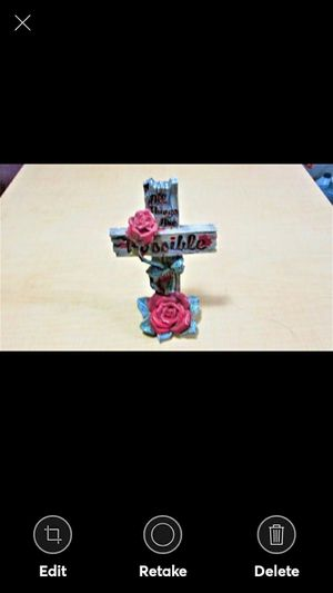 """CROSS WITH ROSE """"ALL THINGS ARE POSSIBLE"""" for Sale in Lynchburg, VA"""