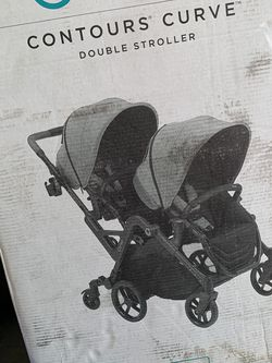 Contours Curve Double Stroller In Graphite for Sale in Danbury,  CT