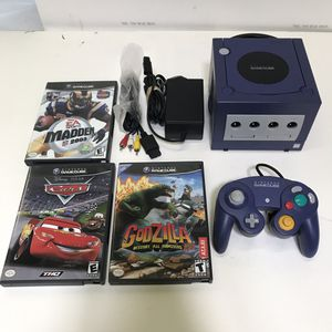 Purple Nintendo Gamecube system console with 3 games and controller for Sale in Rockville, MD
