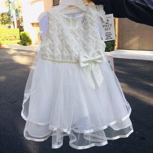Macy's white wedding event dress up dress kids for Sale in Irvine, CA