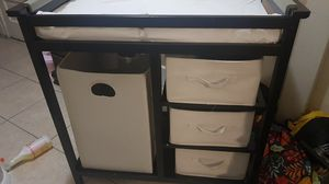 changing table with folding hamper for Sale in Compton, CA
