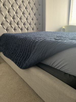 Queen size bed frame with box spring for Sale in Lakewood, CO