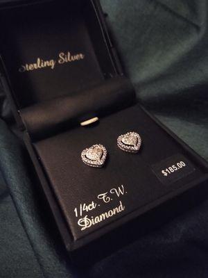 1/4 Ct Diamond Heart Earrings for Sale in Reedley, CA