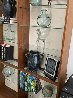 Bookcase with glass shelves for Sale in Redmond,  WA