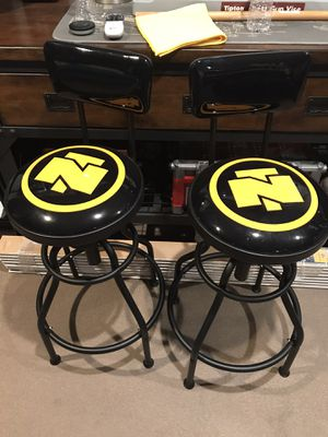 Pair of Northern Tool Shop Stools with Backrest for Sale in San Dimas, CA