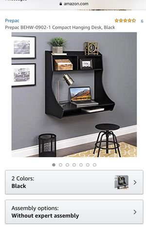Wall mounted black desk for Sale in San Jose, CA