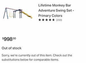 Monkey bar swing set!! for Sale in Dallas, TX