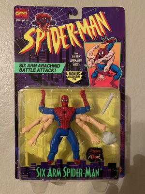 Marvel Spider-Man Animated Series (1995) Six Arm Spider-man Toy Biz Figure NIP for Sale in Stockton, CA