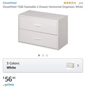 Closetmaid 2 drawer organizer x 3 for Sale in Apple Valley, CA