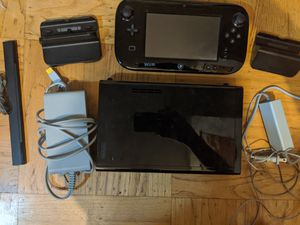 Nintendo WII U WUP-101(02) Black 32GB with accessories for Sale in Daly City, CA