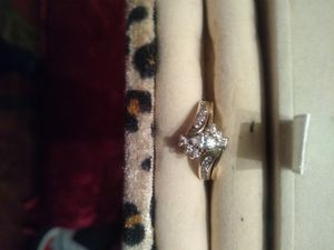 Beautiful real diamond ring 14 k gold, 2 piece set for Sale in Reno, NV