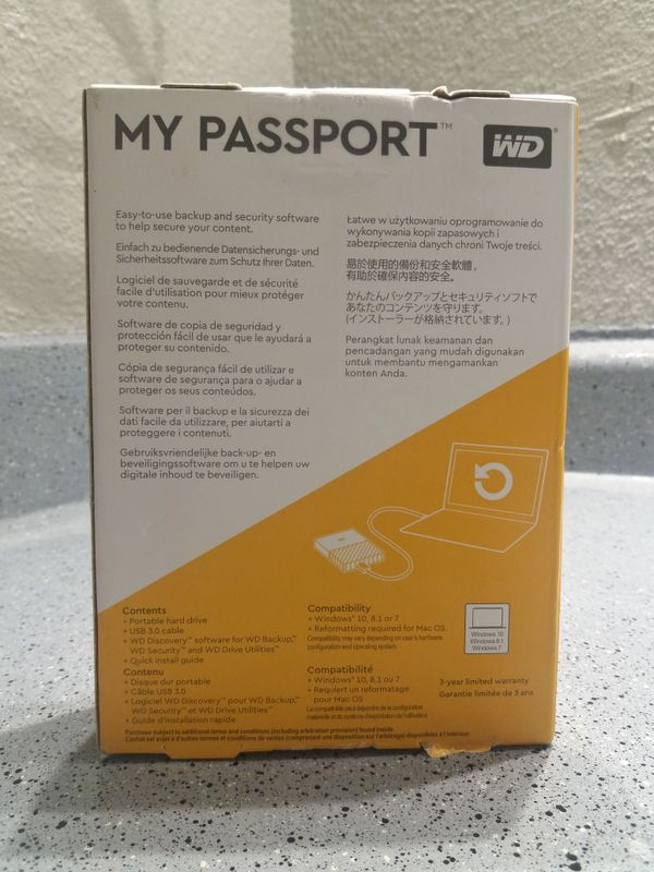 4TB Western Digital My Passport Portable HDD for Sale in Houston, TX -  OfferUp