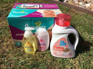 Baby Shower Bundle (Diapers/Detergent/Wash/Lotion) for Sale in Chula Vista, CA