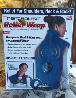 NEW IN BOX THERMAPULSE RELIEF WRAP EXTRA-LONG MASSAGING HEAT WRAP. for Sale in Los Angeles, CA