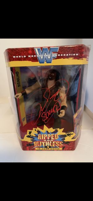Ripped and Ruthless BIG FIGURE signed by MICK FOLEY at Legends of the Ring Convention in New Jersey for Sale in Manalapan Township, NJ