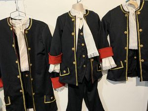 Lot of 8 Kids Handmade British Coat Outfit Military Colonial Hall Theater Costume Large for Sale in Hialeah, FL