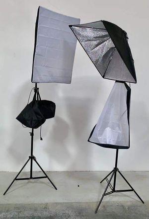 New in box 2 pcs 85 watts soft light softbox photography studio lighting equipment for Sale in Covina, CA
