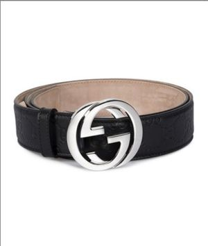 Black & Silver Signature Leather Belt 38 inches for Sale in Herndon, VA