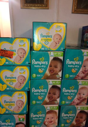 PAMPERS DIAPERS $20 EACH BOX for Sale in Wauchula, FL