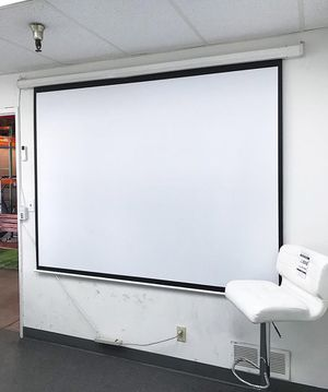 """NEW $55 Electric 100"""" Projector Screen 4:3 Ratio for Sale in Downey, CA"""