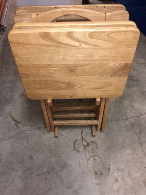 TV Trays (wooden) for Sale in Washington, DC