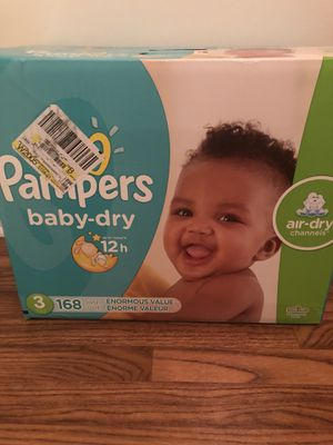 *$35* PAMPERS BABY DRY DIAPERS SIZE 3 for Sale in Temple City, CA