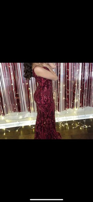 Sequence red mermaid prom dress for Sale in Wake Forest, NC