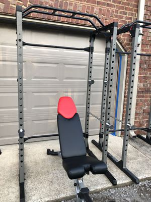 Squat rack with bench for Sale in Murfreesboro, TN