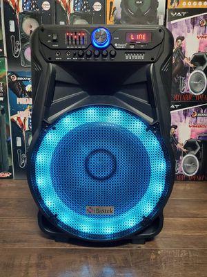 "Bocina Nueva Bluetooth Karaoke Speaker 15"" Woofer LED Lights Rechargeable 🔋 +++ for Sale in Los Angeles, CA"