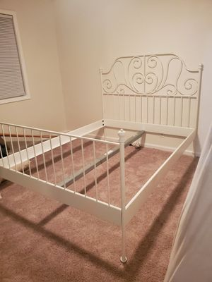 leirvik ikia queen bed frame $40 for Sale in Stockton, CA