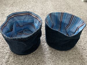 4 toy storage jeans containers for Sale in Wake Forest, NC