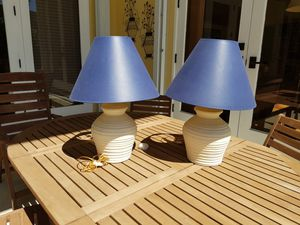 2 Ceramic Lamps 26 inches tall for Sale in Miami, FL