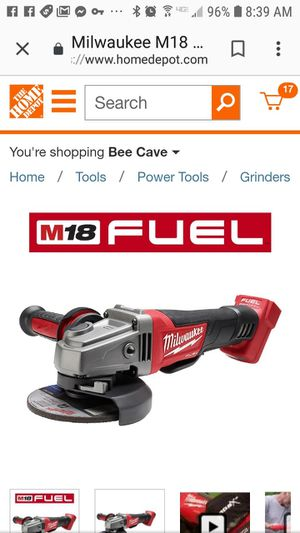 Brand new in box. M18 FUEL 18-Volt Lithium-Ion Brushless Cordless 4-1/2 in. / 5 in. Grinder with Paddle Switch (Tool-Only) for Sale in Austin, TX