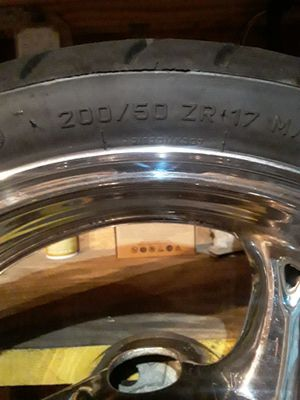 Chrome rims for Suzuki motorcycle Hayabusa for Sale in Kissimmee, FL
