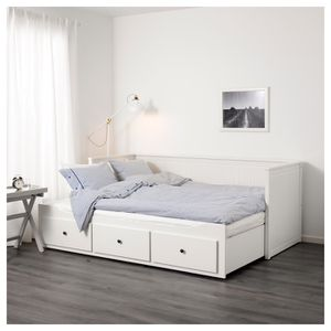 Used, IKEA HEMNES Daybed with 3 drawers/2 mattresses, white, Minnesund firm, Twin for Sale for sale  IND HILLSIDE, NJ