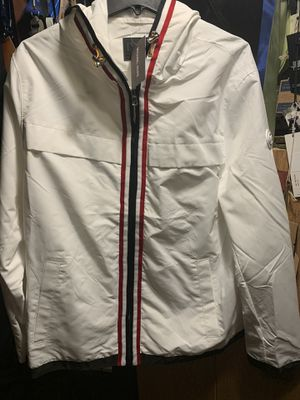 Men's Large White lightweight Hoodie Jacket MK Michael Kors new with tags for Sale in Portland, OR