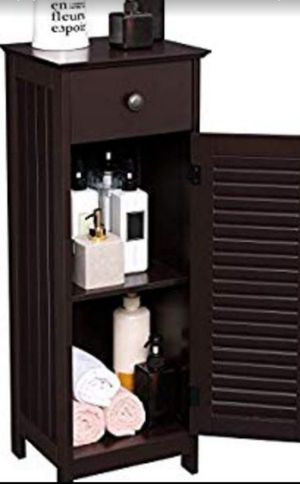 Bathroom storage organizer set with drawer and wooden door, Solid wood for Sale in Ontario, CA