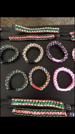 Paracord bracelets firm handmade new $5 each for Sale in La Mesa, CA