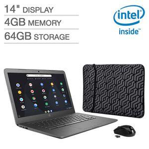 "HP 14"" Chromebook Bundle - Intel Celeron - 1080p - Bonus Sleeve & Wireless Mouse for Sale in Buena Park, CA"