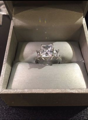 Stamped 925 Sterling Triple Diamond Ring for Sale in Los Angeles, CA