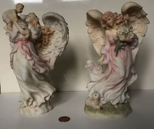 Seraphim Classics Set of 2: Faith the Easter Angel & Mariah Heavenly Joy Figurines for Sale in Painesville, OH