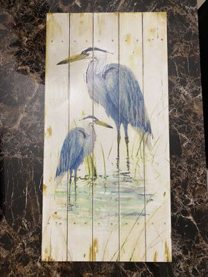 Blue Heron 10x20 wall art for Sale in Miami, FL