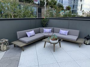 All Wood Outdoor Sectional for Sale in Los Angeles, CA