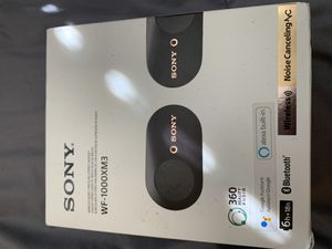Sony WF-1000XM3 Noise Cancelling, True Wireless Bluetooth Earbuds with Charging Case for Sale in San Diego, CA