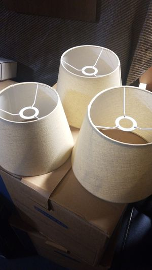 Graduated cloth covered lamp shades. for Sale in Los Altos, CA