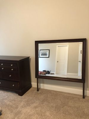 Cherry wood dresser with mirror for Sale in Fairburn, GA