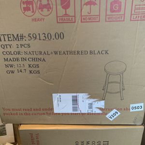 Black Bar Stools (2) Pack for Sale in Newburgh Heights, OH
