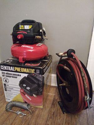 Air Compressor And Hose Reel for Sale in Baltimore, MD